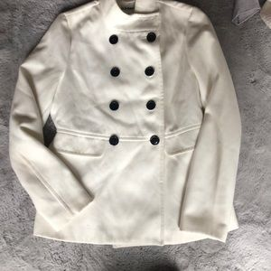 White peacoat brand new without tags